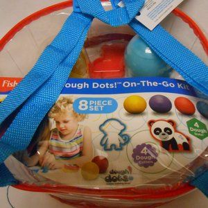 🎅 New Fisher Price On-the -Go Dough Dots Backpack